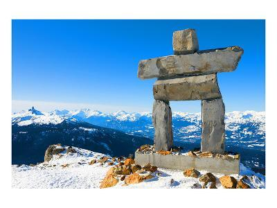 Inukshuk at Whistler Mountain--Art Print