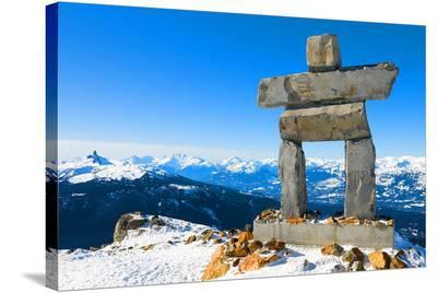 Inukshuk at Whistler Mountain--Stretched Canvas Print