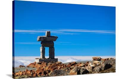 Inukshuk atop Mount Whistler--Stretched Canvas Print