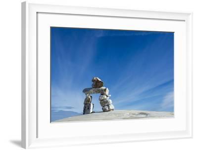 Inukshuk, Nunavut Territory, Canada-Paul Souders-Framed Photographic Print