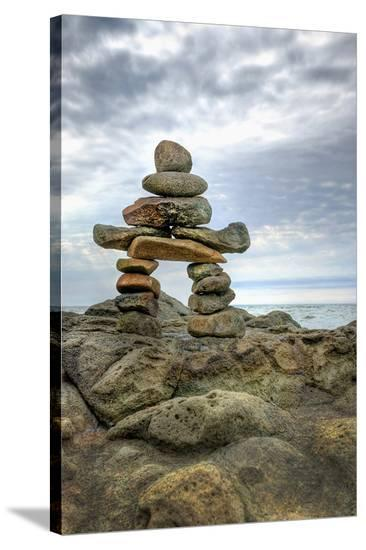 Inukshuk--Stretched Canvas Print