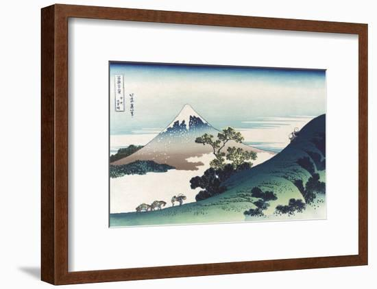 Inumi Pass in the Kai Province-Katsushika Hokusai-Framed Art Print