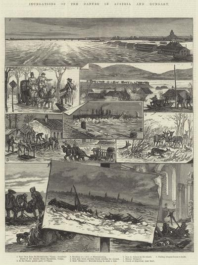 Inundations of the Danube in Austria and Hungary-Johann Nepomuk Schonberg-Giclee Print