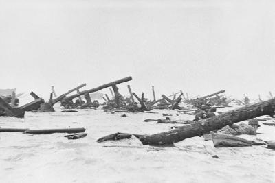Invaders on Omaha Beach--Photographic Print