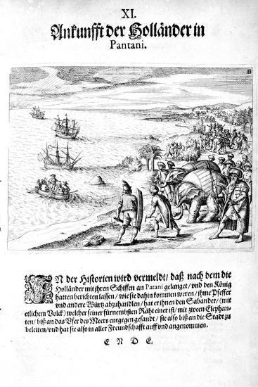 Invasion by Vice Admiral Sebold, 1606-Theodore de Bry-Giclee Print