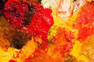 Oil Paints Multicolored Closeup Abstract Background by inventbbart