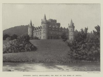 Inverary Castle, Argyllshire, the Seat of the Duke of Argyll--Giclee Print