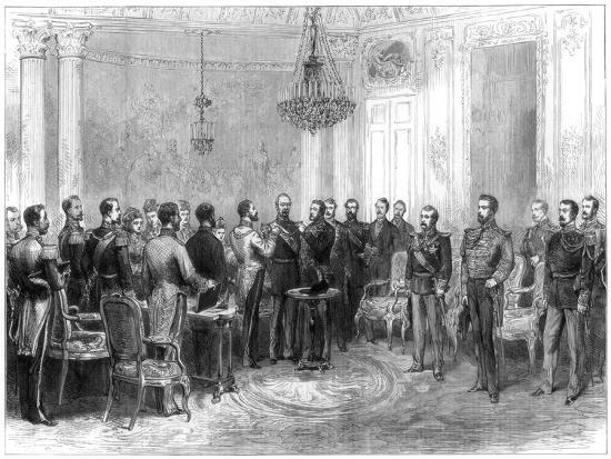 Investiture of Marshal Macmahon with the Spanish Order of the Golden Fleece, 1875--Giclee Print