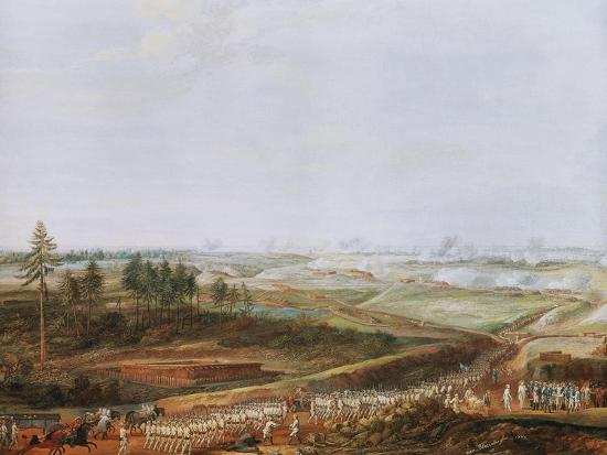 Investment of Yorktown, America by Americans and French in 1781 Painted 1784-Louis Nicolas van Blarenberghe-Giclee Print