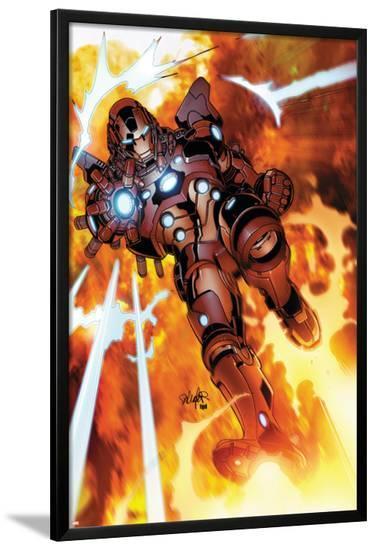 Invincible Iron Man #523 Cover Featuring Iron Man-Salvador Larroca-Lamina Framed Poster