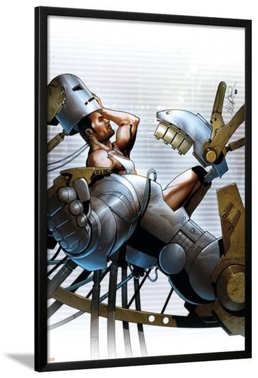 Invincible Iron Man No.18 Cover: Stark and Tony-Salvador Larroca-Lamina Framed Poster