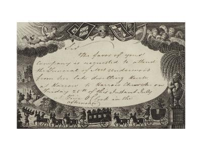 Invitation Requesting Attendance at the Funeral of Mrs Underwood--Giclee Print
