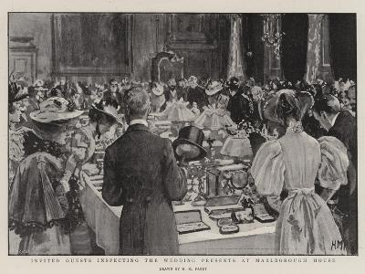 Invited Guests Inspecting the Wedding Presents at Marlborough House-Henry Marriott Paget-Giclee Print