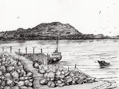 Iona from Mull, Scotland, 2007-Vincent Alexander Booth-Giclee Print
