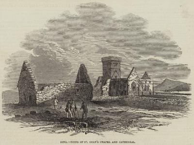 Iona, Ruins of St Oran's Chapel and Cathedral--Giclee Print