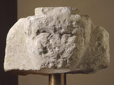 Ionic Stela Fragment from Loreto Aprutino, Abruzzo, Italy, Piceno Civilization, 9th-3rd Century BC--Giclee Print