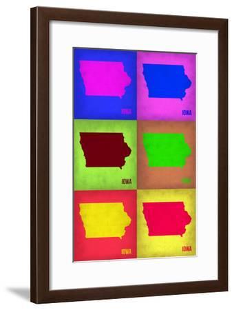 Iowa Pop Art Map 2-NaxArt-Framed Photo