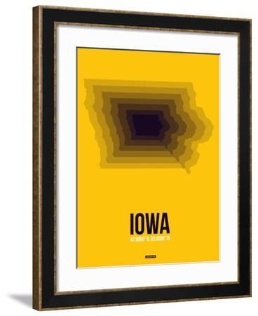 Iowa Radiant Map 3-NaxArt-Framed Art Print