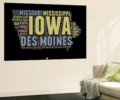 Iowa Word Cloud 1-NaxArt-Wall Mural