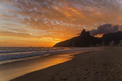 Ipanema Beach at Sunset, Rio De Janeiro, Brazil, South America-Angelo-Photographic Print