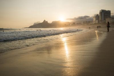Ipanema Beach at Sunset, Rio De Janeiro, Brazil, South America-Ben Pipe-Photographic Print