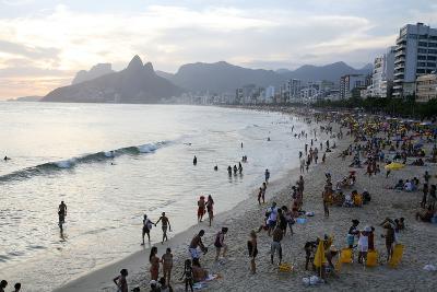 Ipanema Beach, Rio de Janeiro, Brazil, South America-Yadid Levy-Photographic Print