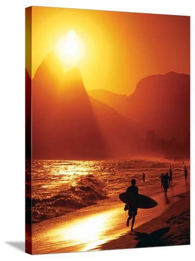Ipanema Beach--Stretched Canvas Print
