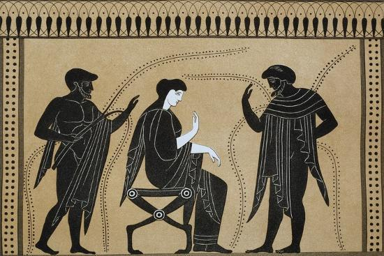 Iphigenia Between Orestes and Paris, from the Collection of Greek Vases by Mr. Le Comte De Lamburg--Giclee Print