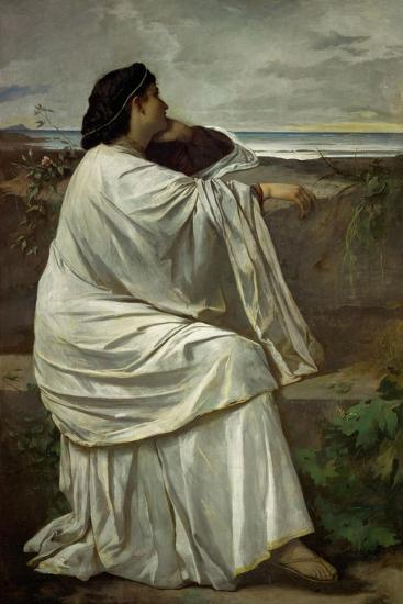"Iphigenia, Feuerbach's favourite Roman model "" Nana"". Oil on canvas (1871) 192.5 x 126.5 cm.-Anselm Feuerbach-Giclee Print"