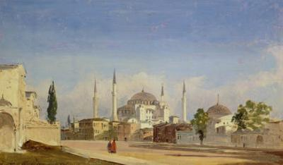 Hagia Sophia, Constantinople, 1843 by Ippolito Caffi