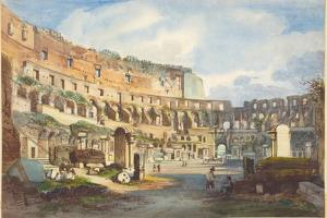Interior of the Colosseum by Ippolito Caffi