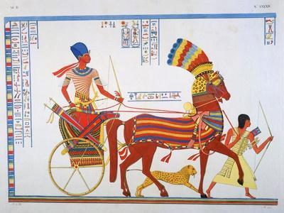 Ancient Egyptain Fresco, 19th Century