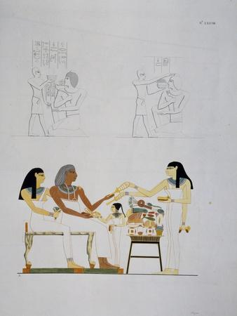 Images of Deceased Being Offered Food and Various Ornaments