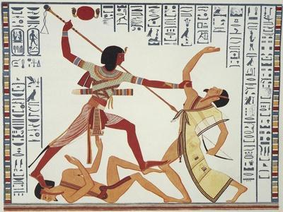 Ramses II Fighting and Killing Libyan Leader