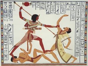 Ramses II Fighting and Killing Libyan Leader by Ippolito Rosellini