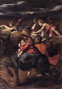 The Flight into Egypt, 1585 by Ippolito Scarsellino