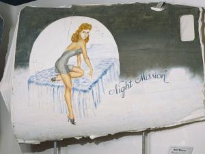 A View of a Painting That Once Decorated the Door of a World War Ii Bomber by Ira Block