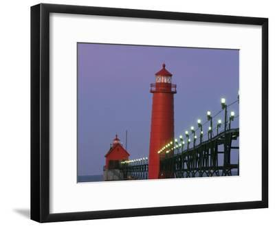 A View of the Grand Haven Lighthouse at Dawn
