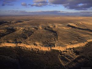 Aerial View of Chaco Canyon and Ruins of Ancient Pueblo Dwellings by Ira Block