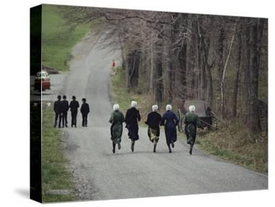 Amish People Visiting Middle Creek Wildlife Management Area a 5,000 Acre Preserve Started in 1966