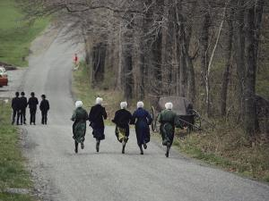 Amish People Visiting Middle Creek Wildlife Management Area a 5,000 Acre Preserve Started in 1966 by Ira Block