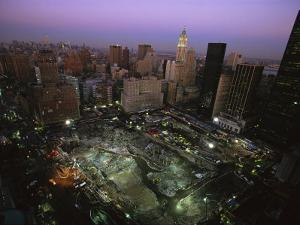 An Aerial View of Ground Zero and Surrounding Buildings by Ira Block