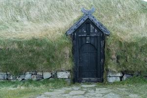 An Old Thatched Roof Viking House on Iceland's South Coast by Ira Block