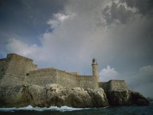 Castillo De Los Tres Reyes Del Morro Fortress, Havana, Cuba by Ira Block