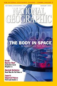 Cover of the January, 2001 National Geographic Magazine by Ira Block
