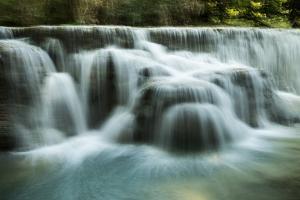 Kuang Si Falls, a Three Tier Waterfall About 18 Miles South of Luang Prabang, Laos by Ira Block