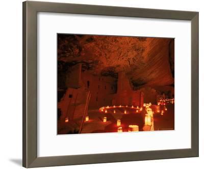 Luminarias Light up the Anasazi Spruce Tree House Dwelling