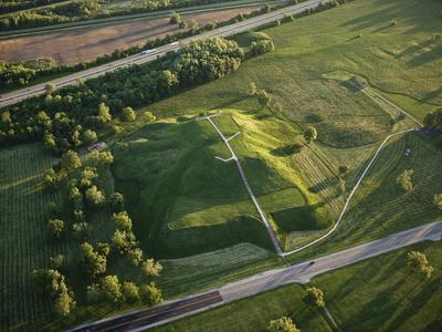 Monks Mound Is the Centerpiece of Cahokia Mounds State Historic Site