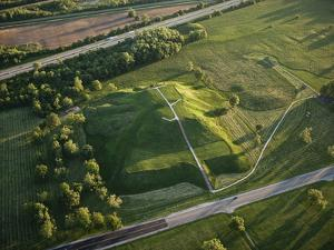 Monks Mound Is the Centerpiece of Cahokia Mounds State Historic Site by Ira Block
