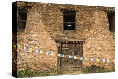 Prayer Flags in Front of the Drukgyal Dzong in Paro Bhutan